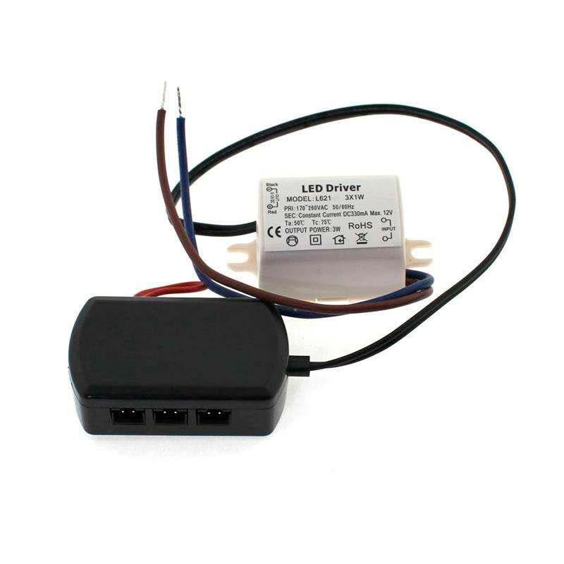 LED Driver DC12V/3x1W/330mA + distribuidor 3x